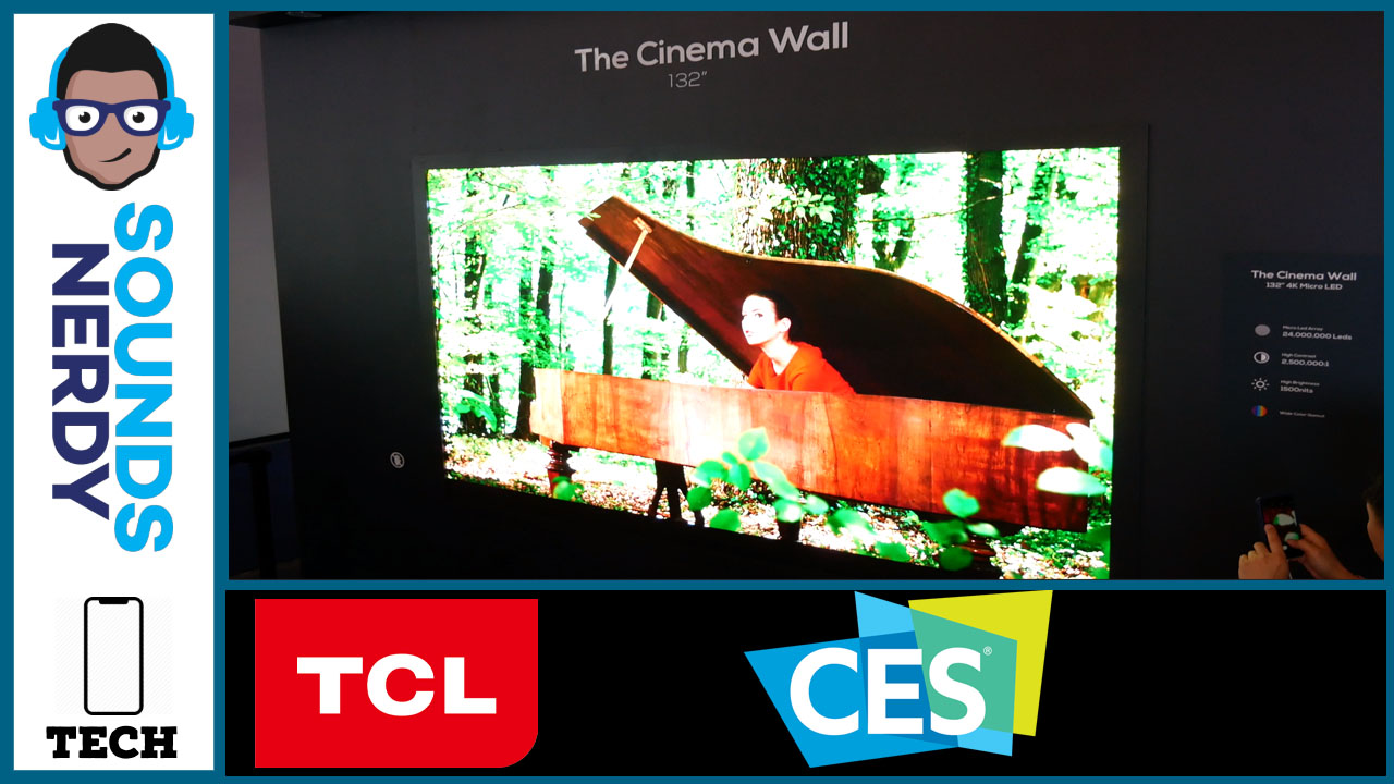 CES 2020: TCL Cinema Wall in 132 inches.